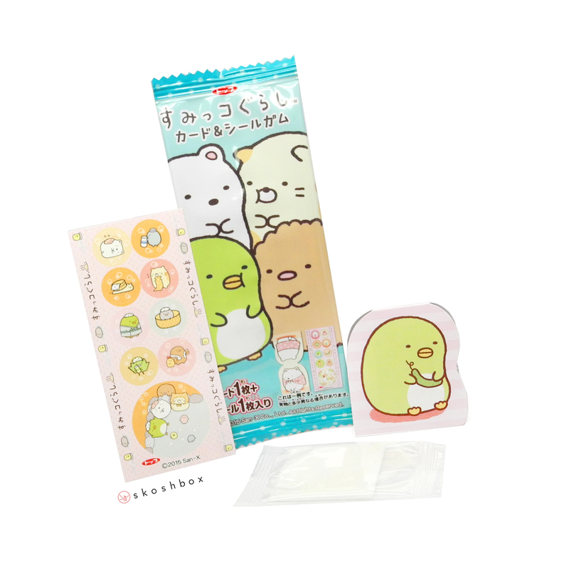 Aug 16 sumikko gurashi sticker gum