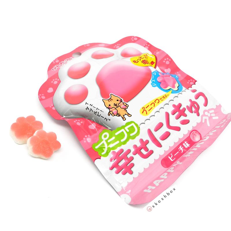 Shiawase nikukyu peach gummies