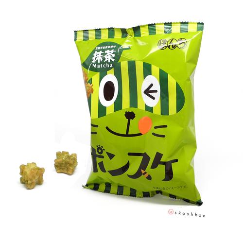 Ponsuke: Matcha Senbei Puffs